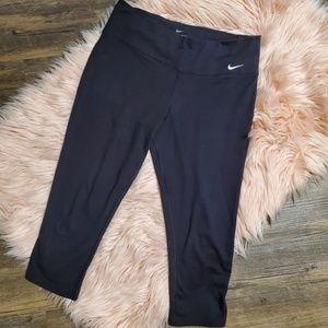 Black Nike Dri-Fit Running Capris